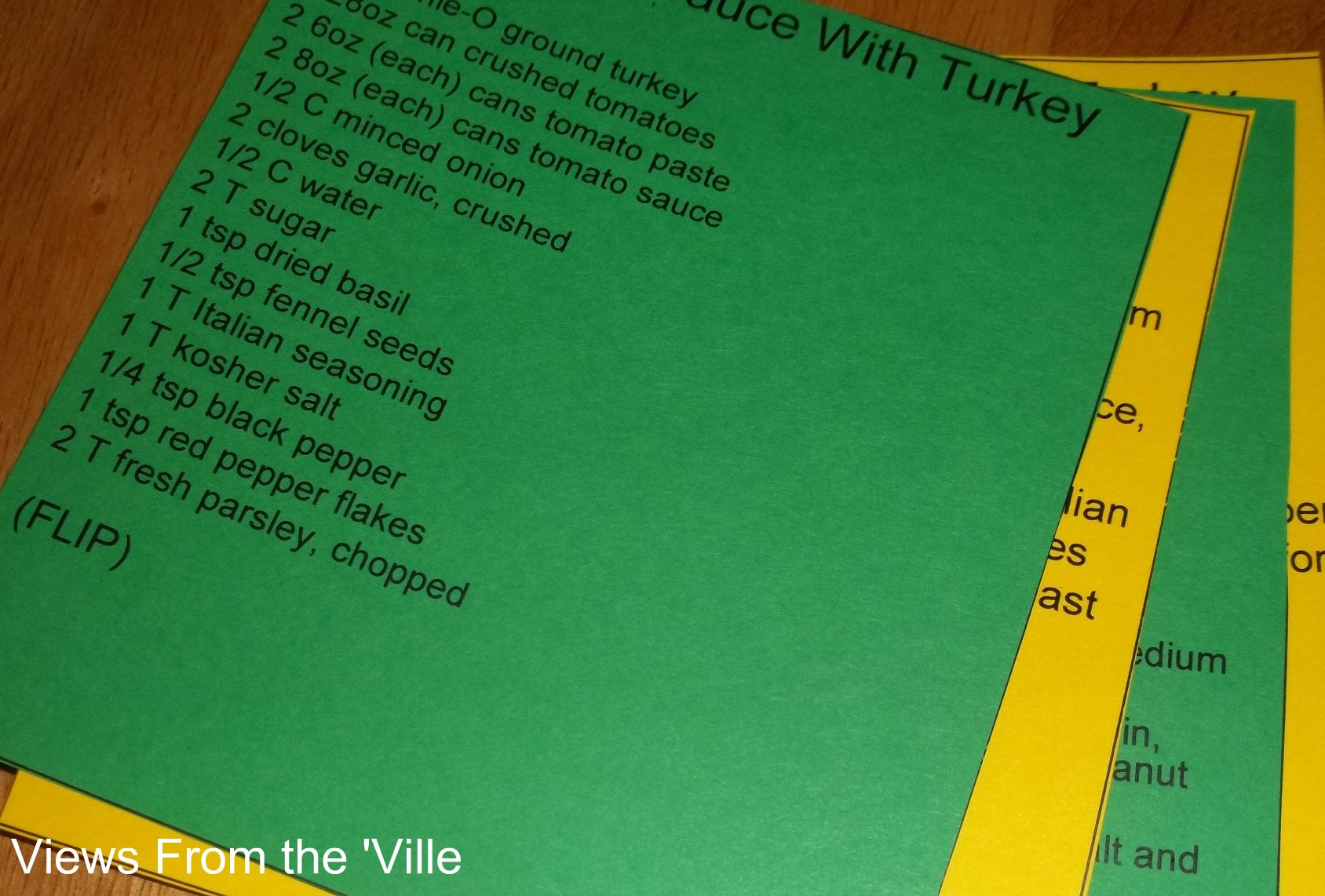 Recipe Card Packets