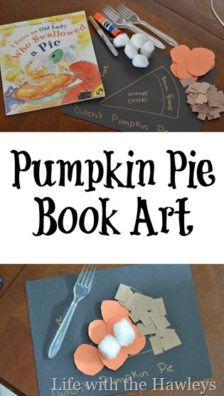 Pumpkin Pie Book Art- Life with the Hawleys
