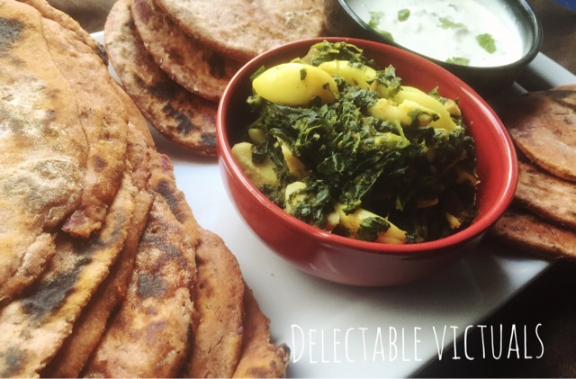 Ube Purple Yam and Chipotle Naan with Spinach Jackfruit Seed Curry
