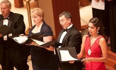 Daniel Lynch, Jr., tenor, Alicia Luick, mezzo-soprano, Bruce Cain, bass, Katie De La Vega, soprano.. Photos by TOM HART/ FREELANCE PHOTOGRAPHER