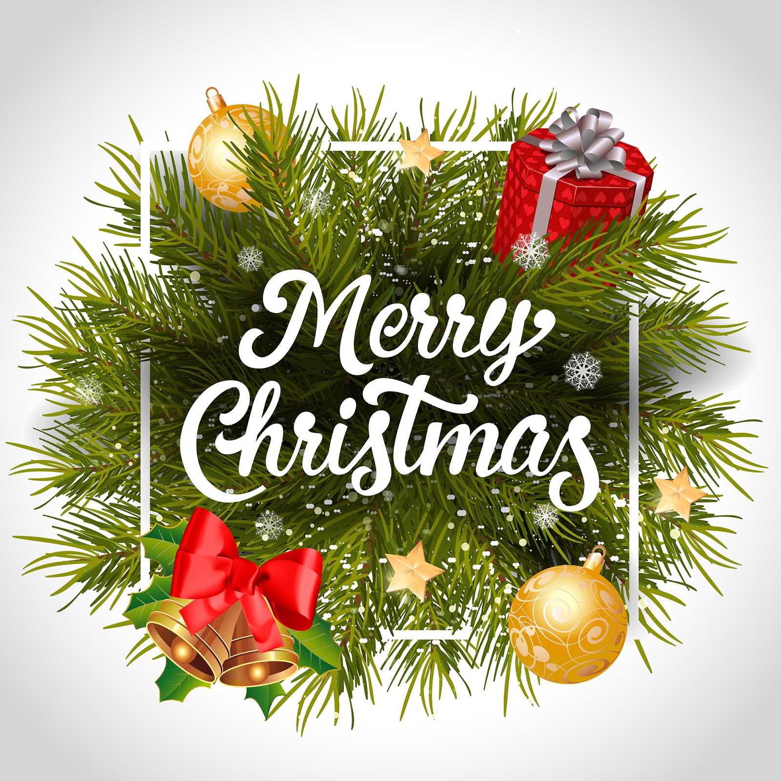 Merry Christmas Lettering Free Download Vector CDR, AI, EPS and PNG Formats