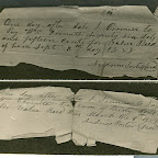 Here are two IOU's that were in Andrew Porter's possession. I have copies of about 20 different IOU's. All but these have his name (the corner) tore off. I assume that when he paid his debt, they would tear off his name? This William Cornett is his father in law. Our family made mention of an old letter from The Cornetts in virginia to Andrew Porter in KY talking about a debt. Unfortunately, the letter has been destroyed.