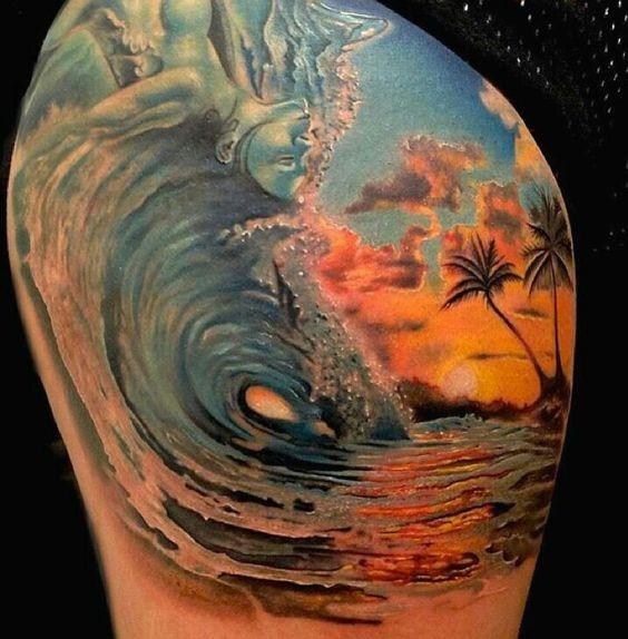 praia_deslumbrante_paisagem_coxa_tatuagem