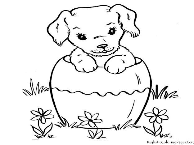 Coloring Pages Of Dogs Realistic Coloring Pages Dog Coloring Pages