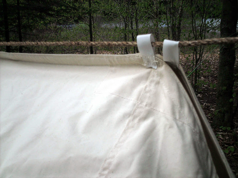 May 18th with new webbing loops and...the black flies are just starting to hatch. & Who makes the best Whelen lean-to tent?
