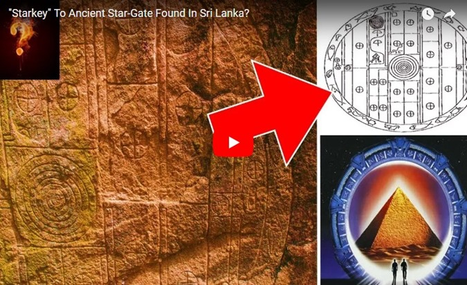 Sri Lanka um antigo granito de 6500 anos representa um Portão Estelar