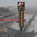 Bad and wet weather in the pit straight