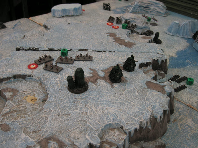 The IC and Necrons battle it out in the frozen land of Nador.