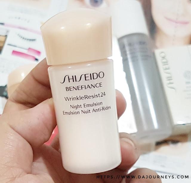 Review Shiseido Benefiance WrinkleResist24 Night Emulsion