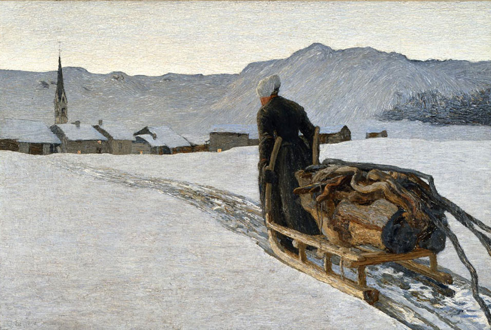 Giovanni Segantini - Return from the Woods