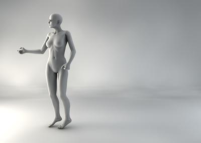 femme 3D pose naturelle BH 03