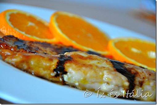 Csirkemell vörösboros narancsmártásban