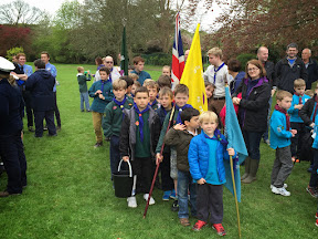 Scouts with flags