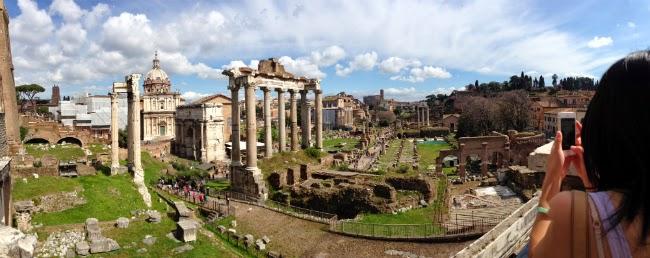 Roman Forum Capitoline hill Rome Roma View