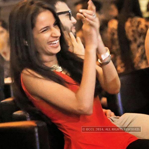 Tanvi Nagalia during a stand-up comedy show at Manhattan. <br />