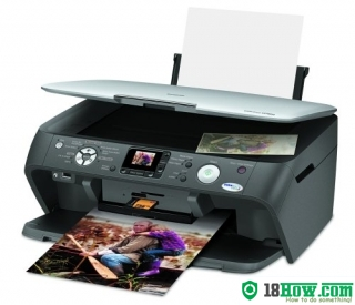 How to reset flashing lights for Epson CX7800 printer