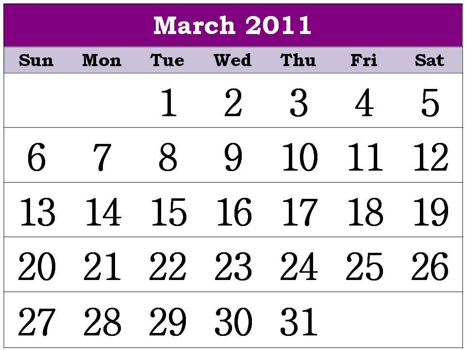 2011 Calendar Free Printable. Free Homemade Calendar 2011