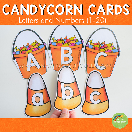 Candy Corn Letter and Number Cards