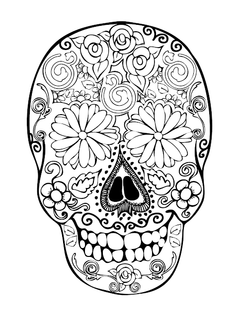 Sugar Skull Coloring Pages  Printable Coloring Pages