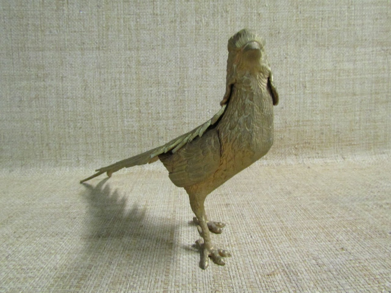 Brass Pheasant Sculpture
