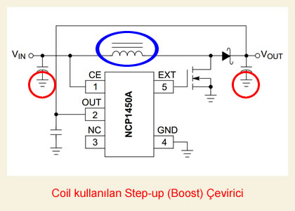 Non-isolated step-up boost converter