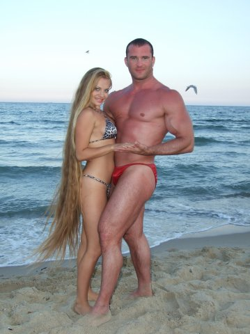 Lovely models Alla Perkova natural hair sea beauty Mermaid Long Tresses