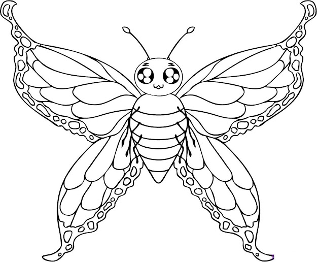 Beautiful Butterfly Coloring Pages For Kids To Print About Butterfly Cycle  Coloring Pages Printable