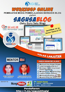 Laporan Mentor Workshop Online Sagusablog 52 Lanjutan