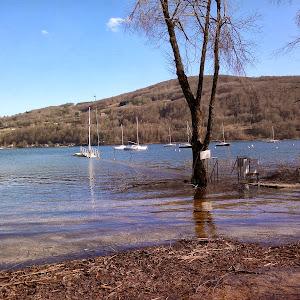 Février 2014 ??? Le lac déborde à nouveau !!!