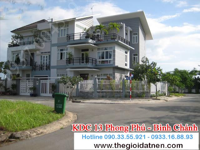 KDC 13   03 Bán gấp đất nền nhà phố KDC 13C, Bình Chánh giá 14.5 tr/m2