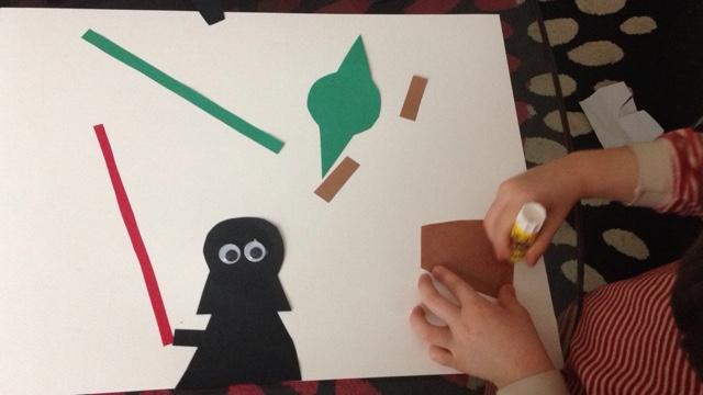 idee bricolage avec les enfants pour les vacances collage star wars printable gratuit. Black Bedroom Furniture Sets. Home Design Ideas