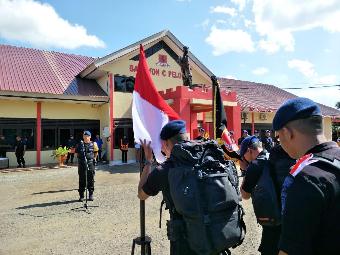 Personel Yon C Pelopor Diberangkatkan BKO Ke Papua