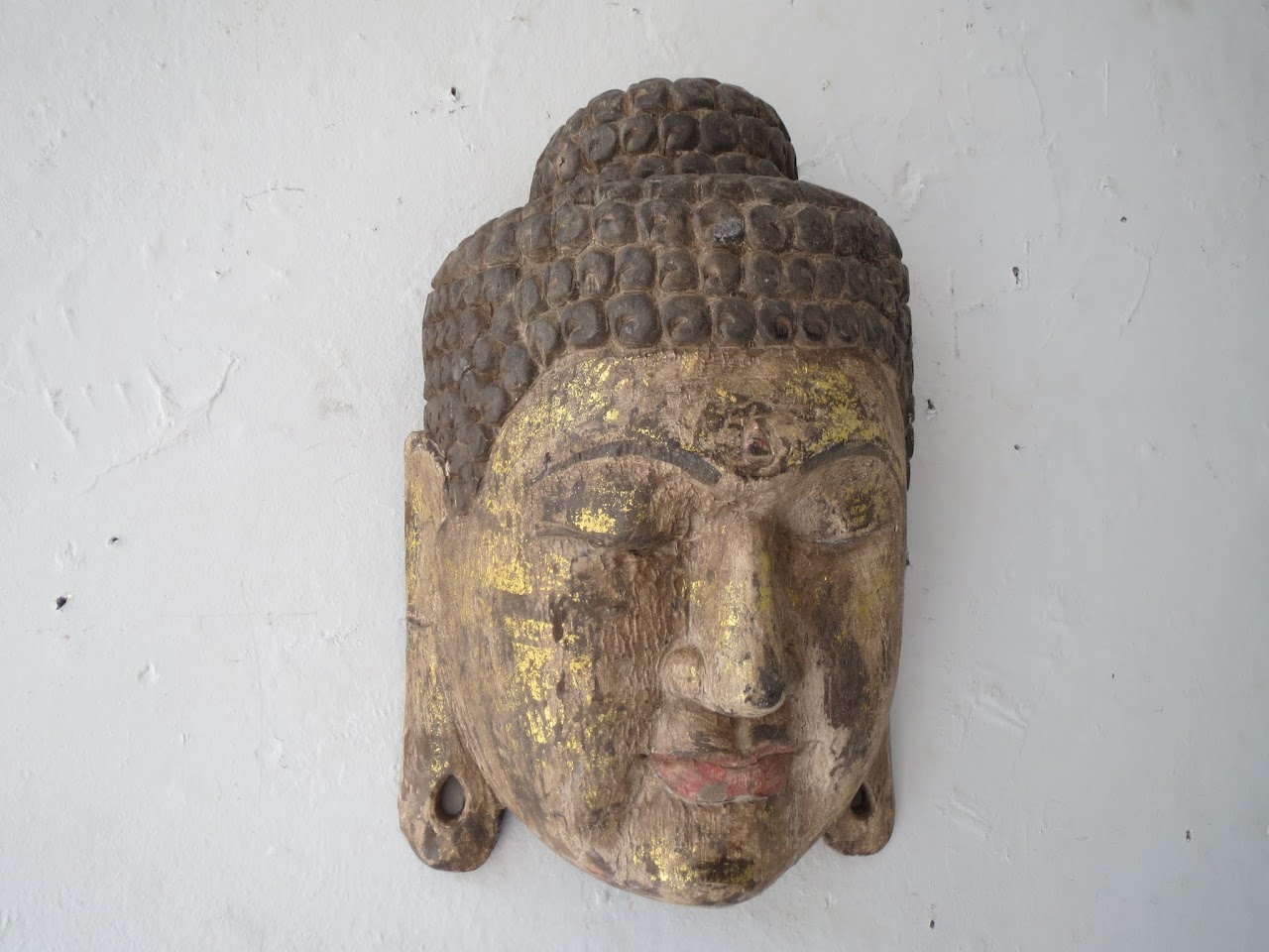 Large Carved Buddha Wall Hanging