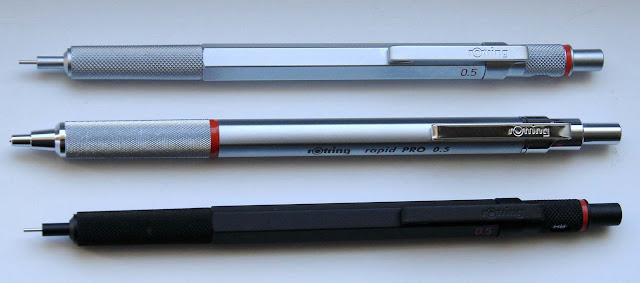 rotring 600 and rapid pro mechanicals