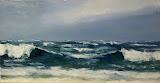 sztorm, olej, płótno, szpachla, 35 x 70cm
