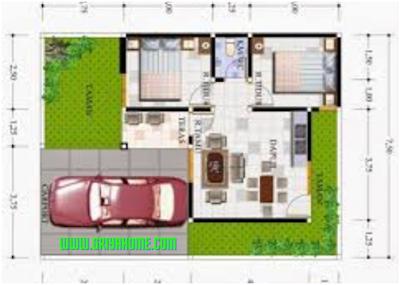 sketsa rumah type 36