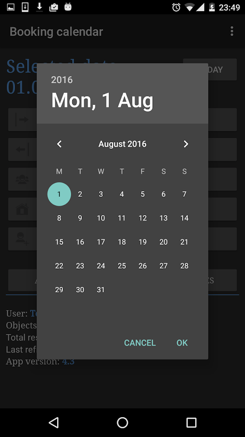 Booking calendar - sync all your reservations- screenshot