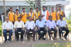 Kuvempu University Inter collegiate athletics men championship trophy 2014-15