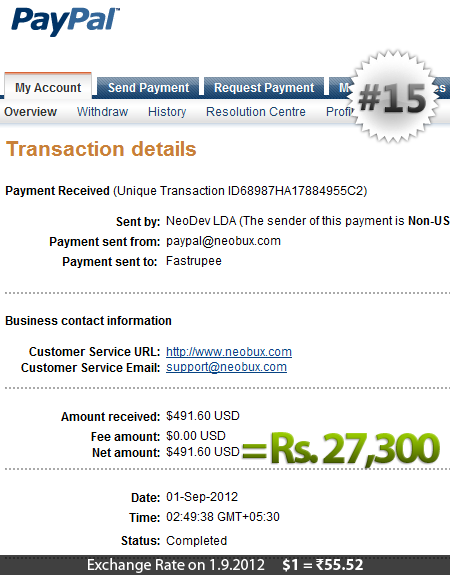 Neobux Payment Proof 15