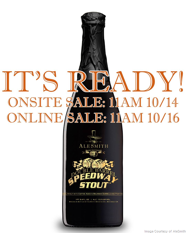AleSmith - Double Barrel Speedway Stout Release Details (Delayed-10/14)