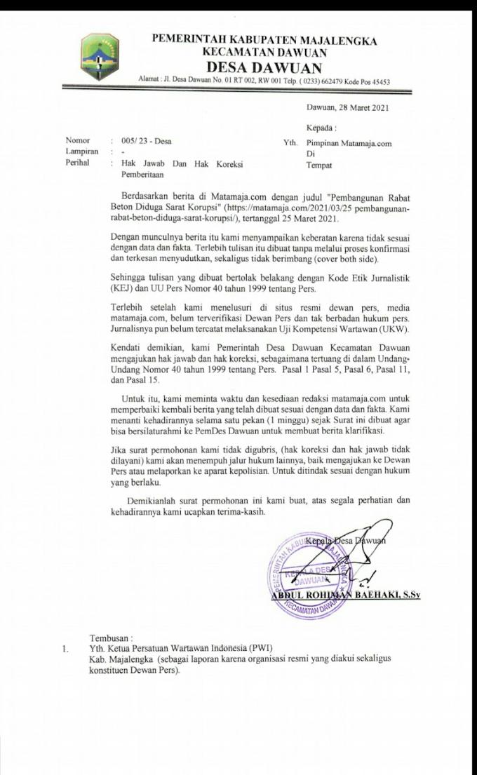 Ketua AWI Sesalkan Pernyataan Ketua PWI Majalengka Mengenai Undang-undang Pers