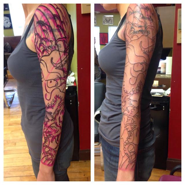 680f31eb2 matt cee tattoos: started an octopus sleeve today