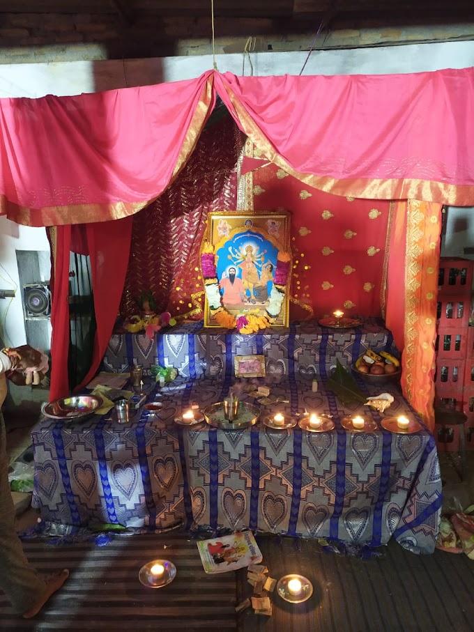 दुर्गा चालीसा के पाठ के साथ दी नशा मुक्ति की शिक्षा