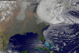 Hurricane Sandy is seen moving towards the east coast of the United States in this NASA handout satellite image taken on October 29, 2012. REUTERS/NOAA/NASA/GOES/Handout (UNITED STATES - Tags: SCIENCE TECHNOLOGY ENVIRONMENT) FOR EDITORIAL USE ONLY. NOT FOR SALE FOR MARKETING OR ADVERTISING CAMPAIGNS. THIS IMAGE HAS BEEN SUPPLIED BY A THIRD PARTY. IT IS DISTRIBUTED, EXACTLY AS RECEIVED BY REUTERS, AS A SERVICE TO CLIENTS