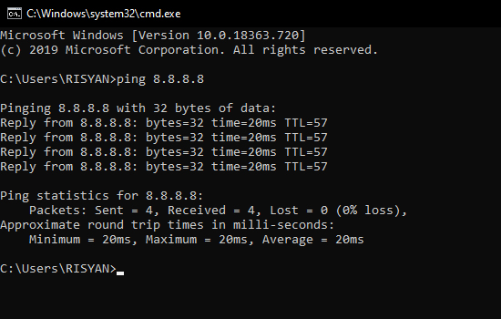 How to Ping CMD Using IP Address