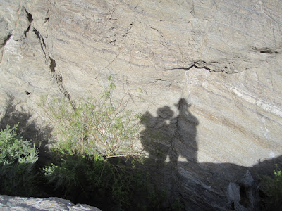 This was at the charming Poison Spring. A self-portrait of M and P. ©http://backpackthesierra.com