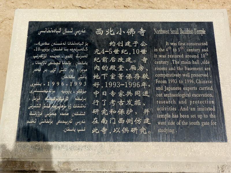 XINJIANG.  Turpan. Ancient city of Jiaohe, Flaming Mountains, Karez, Bezelik Thousand Budda caves - P1270805.JPG