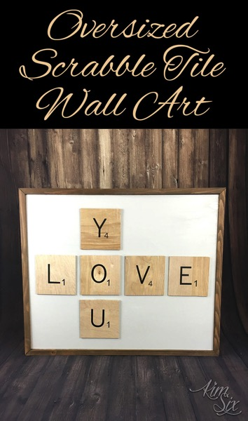 How to make, mount and frame oversized scrabble tiles to form wall art. Such a cute idea since you could spell out anything!