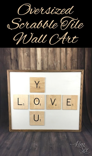 How To Make, Mount And Frame Oversized Scrabble Tiles To Form Wall Art. Such