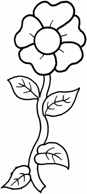 Flower Coloring Pages Single Flower